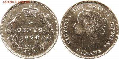 Канада. Монеты периода правления королевы Виктории 1858-1901 - 5-cents-1874