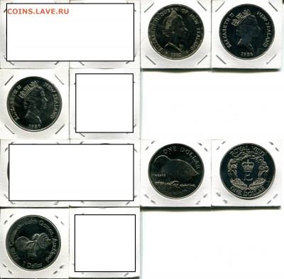 Н.Зеландия 1$ разные по ФИКСу до 17.02.20 22-00 мск - NZ 1$ 1970-90 dif4
