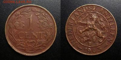 Нидерландские Антилы – 1 цент (1963) до 16.02 (22.00) - Нидерландские Антилы – 1 цент (1963)