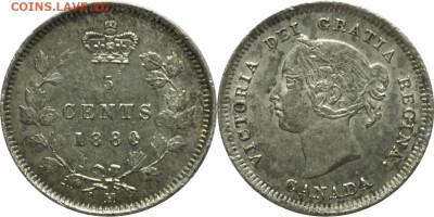 Канада. Монеты периода правления королевы Виктории 1858-1901 - 5-cents-1880