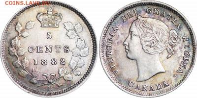 Канада. Монеты периода правления королевы Виктории 1858-1901 - 5-cents-1882