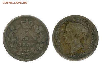 Канада. Монеты периода правления королевы Виктории 1858-1901 - moneta_5_centov_kanady_1883_g_serebro_1