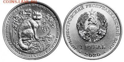 Кошки на монетах - Приднестровье, 1 рубль, 2020г., Европейская лесная кошка