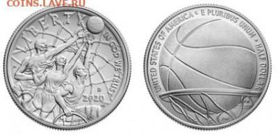 Монеты США. Вопросы и ответы - полдоллара баскетбол