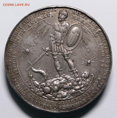 Медаль Густав Адольф 1631 битва при Брейтенфельде, серебро - 4444.JPG
