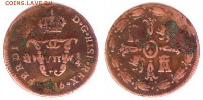 Мексиканские монеты - Мексика 1.4 тлако (1.8 реала) 1816 KM-63