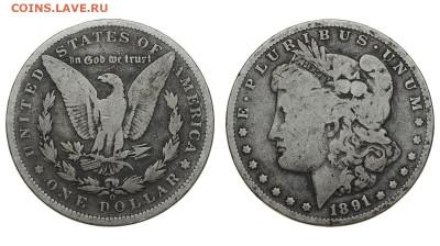 США. 1 доллар 1891 г. Морган. До 28.03.20. - DSH_7782.JPG