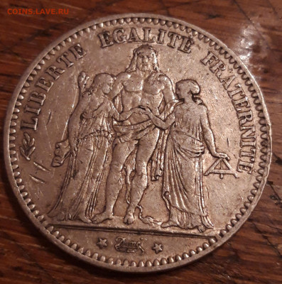 Франция 5 франков 1875 Ag  27.03.2020  22:00 - 20200325_191608