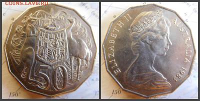 Австралия 50 центов, 1983 - 25