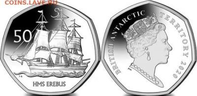 Монеты с Корабликами - 50 пенсов 2020