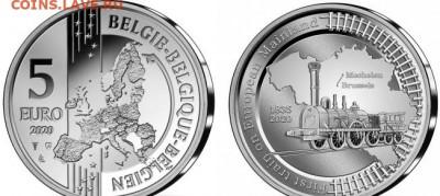Монеты,связанные с жд! - бельгия поезд