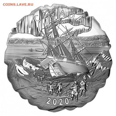 Монеты с Корабликами - Канада 50 долларов