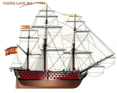 Монеты с Корабликами - Santisima Trinidad-armada