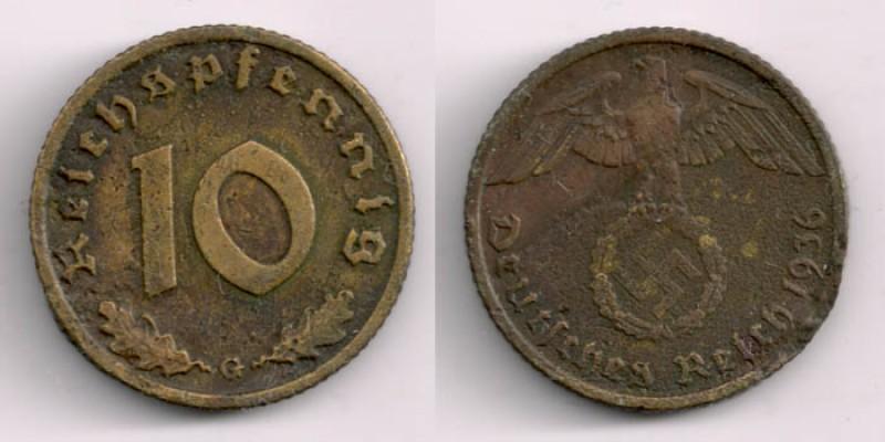 Кто собирает Германию 3 рейх - есть рарик :) - 10reihspgennig1936G