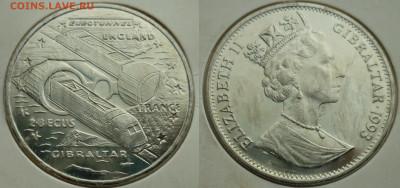 Монеты,связанные с жд! - Гибралтар.JPG