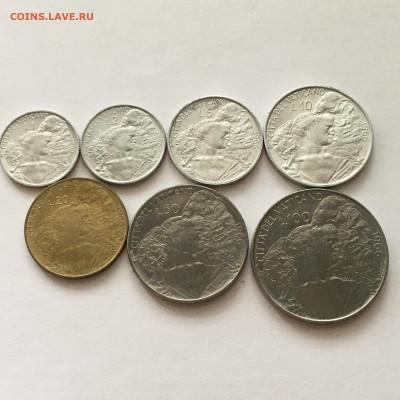 Ватикан 1966г 7 монет от 1 до 100 лир - image-02-08-20-01-09-1