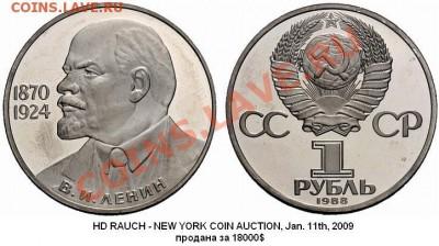 Фото редких разновидностей Юбилейных монет СССР 1965-1991 гг - ЛЕНИН-115 (новодел, дата 1988)