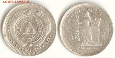 Республика Гондурас - Гондурас 25 сентаво 1895 KM-50 301 31.10.14