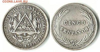 Республика Эль-Сальвадор - Сальвадор 5 сентаво 1914 (P) KM-124