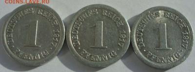 Германия, иностранщина (наборы, на вес, евро), царизм, СССР. - 1 пфенниг 1917 A - 1