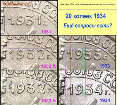 20 копеек 193? года. - 20 копеек 1931-34 фрагменты
