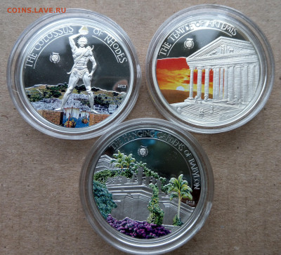"Палау 7 монет ""Чудеса Света"" в коробке до 21.10 - IMAG9038_2"