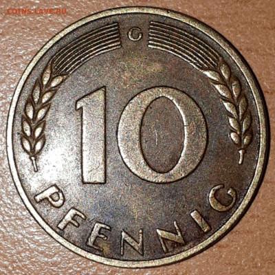 Что попадается среди современных монет - 10 pfenning_1950_1