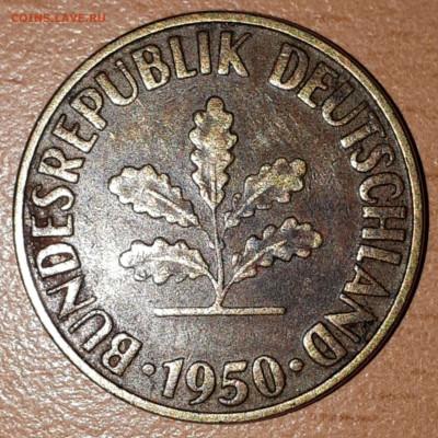 Что попадается среди современных монет - 10 pfenning_1950_2