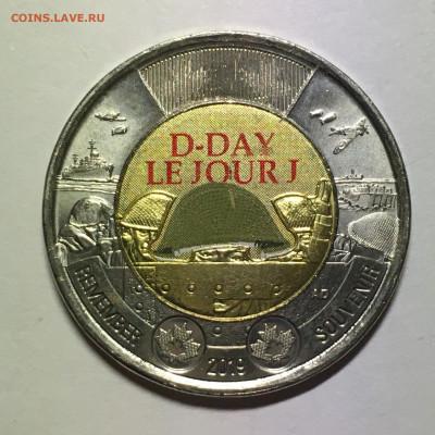 """Канада 2019г 2 $ """"Высадка в Нормандии"""" - image-15-10-20-06-07-1"""