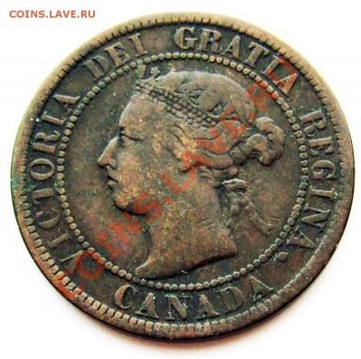 R10 1¢ Канада 1901 С Рубля! до 29.09 в 22°° - R10 Canada 1c 1901 G_VG-1