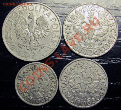 C76 Польша 1 зл., 50 гр., 20 гр., 10 гр. 1923-29 до 29.09 - C76b Poland 1 zl , 50g 20g 10g_2