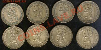 Чехословакия (ЧССР) погодовка 1 крона, 8 монет, до 28.09.11 - чехи-крона-погод-2