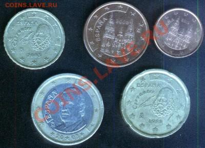 Испания евро 5 разных монет до 28.09.2011 - испания-5шт-2