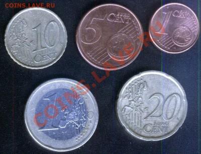 Испания евро 5 разных монет до 28.09.2011 - испания-5шт-1