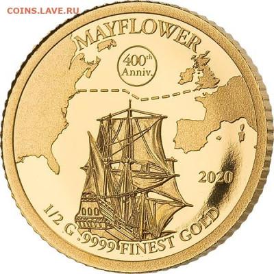 Монеты с Корабликами - Барбадос 10 долларов 2020