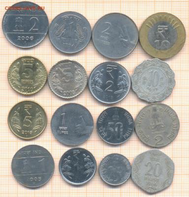 Индия 16 монет - 4 индия 16м 100