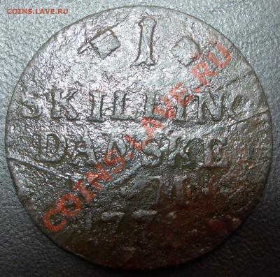 Дания, скиллинг 1771 - Дания, скиллинг 1771 номинал.JPG