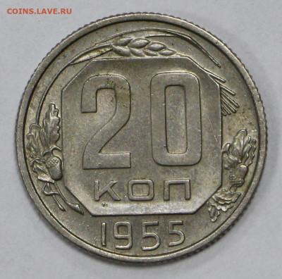 20 коп 1955 год. Штемп. блеск - 23.11.20 в 22.00 - в 011