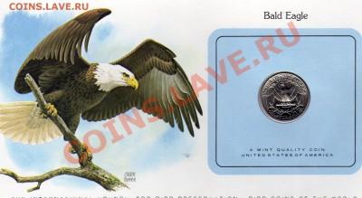 Птицы мира США квотер 1980 Белоголовый орлан до 29.09.11 22ч - img023