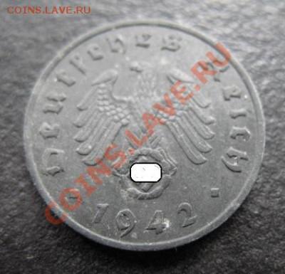 1942 г, Третий рейх, 1 пф J, до 27.09 в 21-00 мск - 1 пф ж а