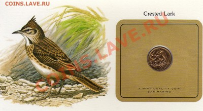 Птицы мира Ватикан 20 лир 1975 Хохл.жаворонок до 29.09.11 22 - img049