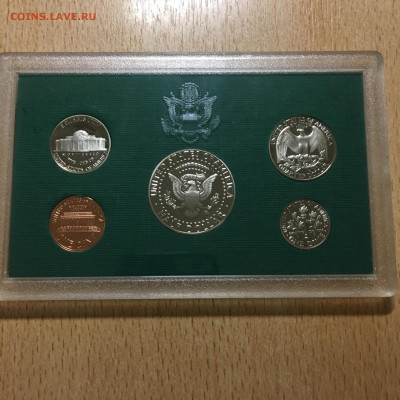 США 1996г Годовой набор монет Proof (5 штук) в упаковке - image-21-11-20-04-24-2