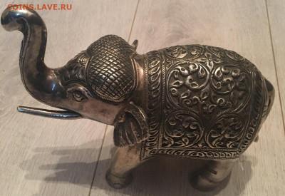 Слон, Индия?, серебро до 24.11.20г. 22-00 М. - С5