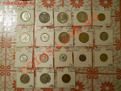 Греция, красивые монеты от 1882 до 1988 (есть и 1965 год) - 1.JPG