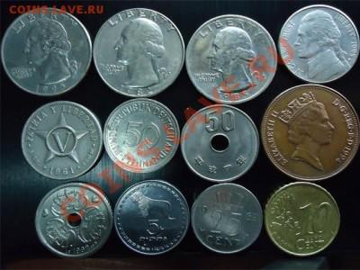 лот иностранных монет - лот иностр