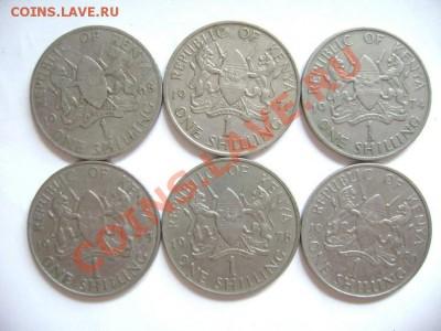 6 монет КЕНИЯ. 1 шиллинг. 1968-1980гг - DSC00567.JPG