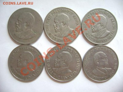 6 монет КЕНИЯ. 1 шиллинг. 1968-1980гг - DSC00568.JPG