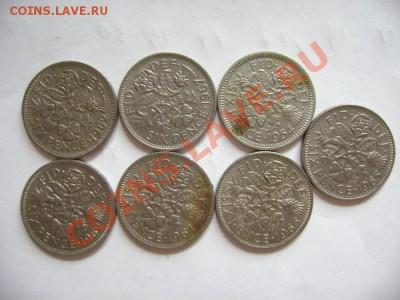 7 монет Англия. 6 пенсов 1954-1967гг - DSC00584.JPG