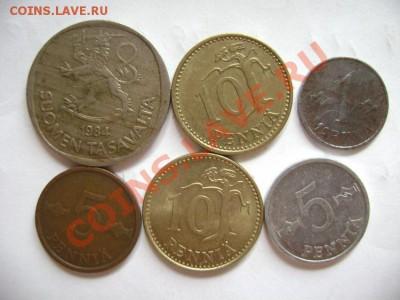 6 монет ФИНЛЯНДИЯ 5 пенни-1 марка 1953-1984гг. до 30.09.11г - DSC00585.JPG
