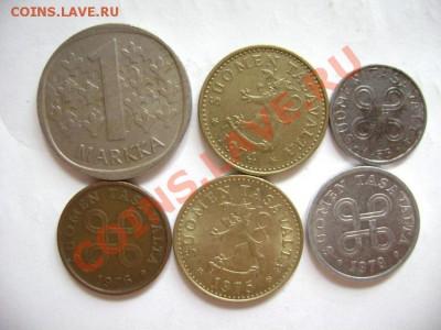 6 монет ФИНЛЯНДИЯ 5 пенни-1 марка 1953-1984гг. до 30.09.11г - DSC00586.JPG